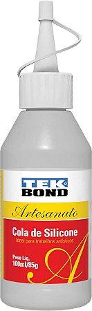 Cola para artesanato Silicone Liquido 85g/100ml. Tekbond