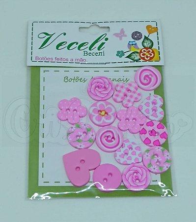 Botões Artesanais Compose Rosa