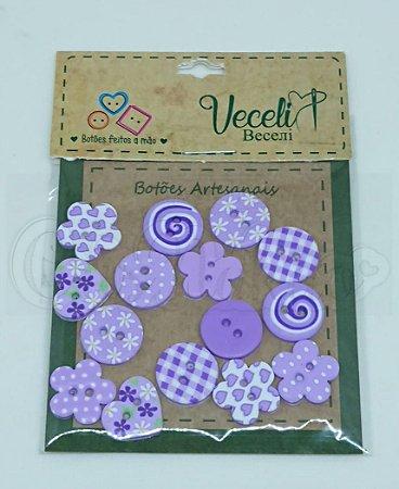 Botões Artesanais Compose Lilás