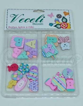 Botões Artesanais Kit Baby Menina