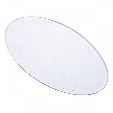 Base Acrílica Oval Transparente 14x8cm - 3 peças