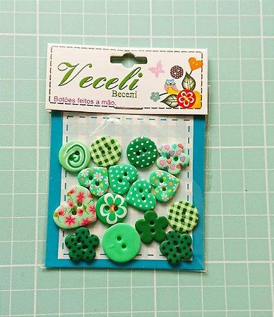 Botões Artesanais Compose Verde