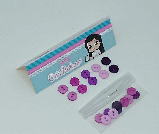 Botão Mix Tons de lilás 2 furos 10mm
