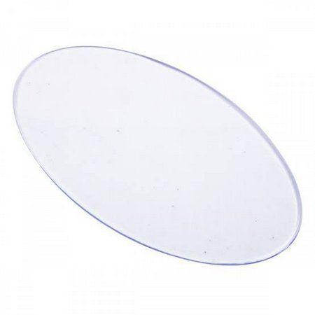 Base Acrílica Oval Transparente 8x5cm - 3 peças