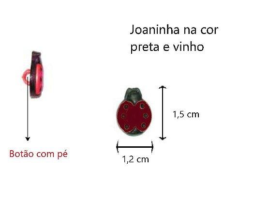 Kit 6 botões Joaninha We Care About