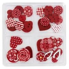 Botões Artesanais Compose Vermelho Kit