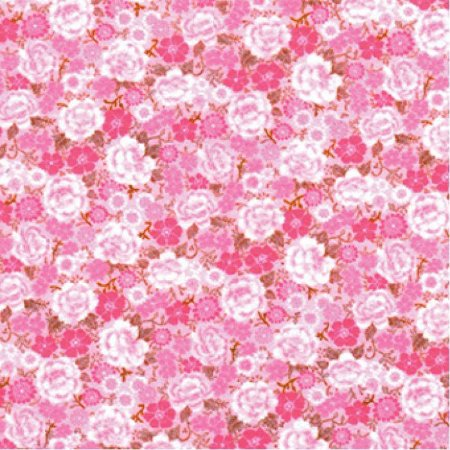 Feltro Coleção Paixão - chita rosa e marrom