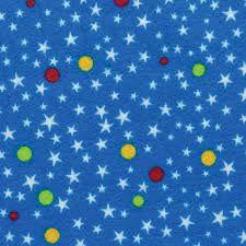 Feltro Coleção Paixão - Estrelas Azul