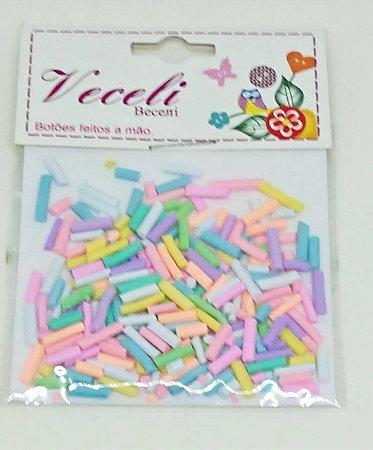 Botões Artesanais Confete Algodão Doce Slime