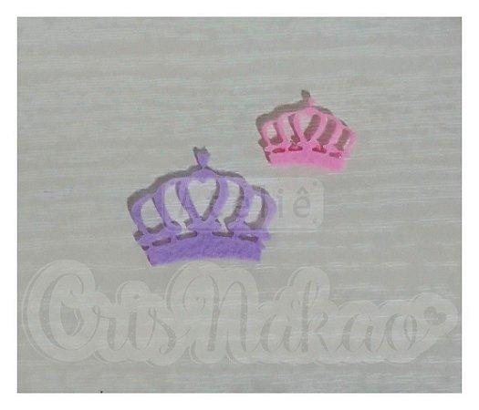 Recorte  de Coroas Vazada Coração - 10un