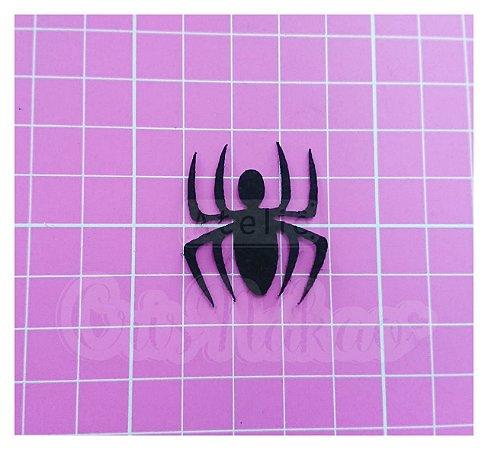 Recortes em Feltro - Emblema Super Heróis - Homem Aranha 4 un