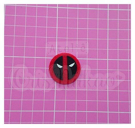 Recortes em Feltro - Emblema Super Heróis - Deadpool 4 un