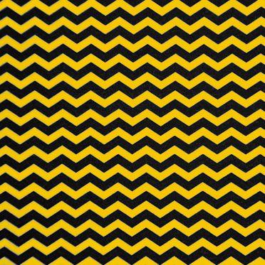 Feltro Santa Fé - Estampado Colméia Chevron Amarelo/Preto