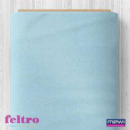 Feltro Glitter Mewi Azul Bebe