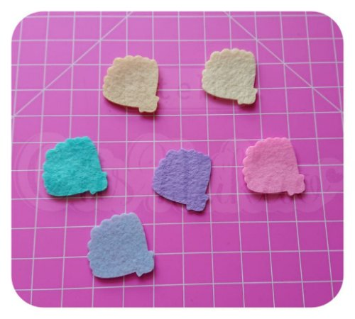 Kit Recortes em Feltro Concha  Mod 1 3cm - 20 unidades