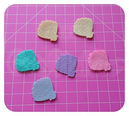 Kit Recortes em Feltro Concha mod 1 5 cm - 20 unidades