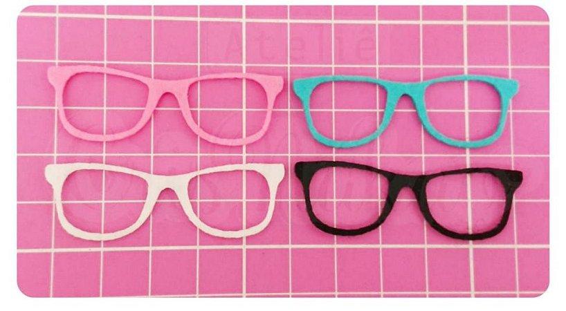 Kit Recortes em Feltro  Óculos Tradicional 10 cm - 6 un