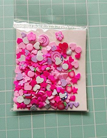 Botões Artesanais Misto Pink Slime