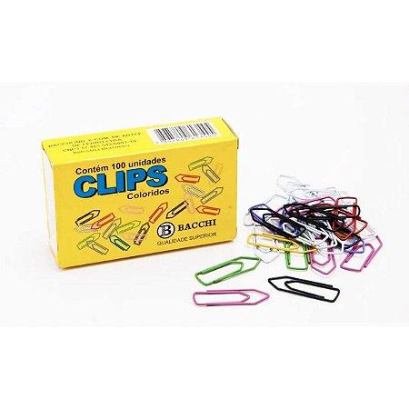 Clipe colorido Ref.3/0 C/ 50 Unidades Bacchi