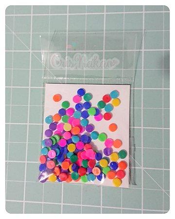 Botões Artesanais Círculos coloridos