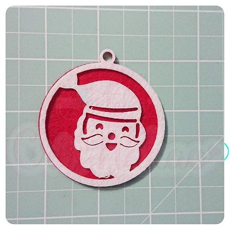 Recortes em Feltro Pingentes de Natal - Papai Noel