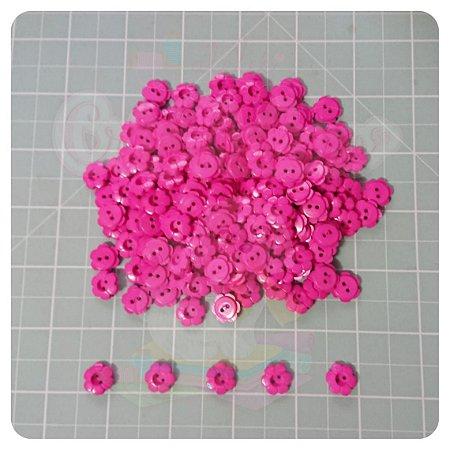 Botão Flor 12mm Pink - 20 unidades
