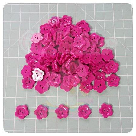 Botão Artesanato Estrela M Pink - 10 unidades