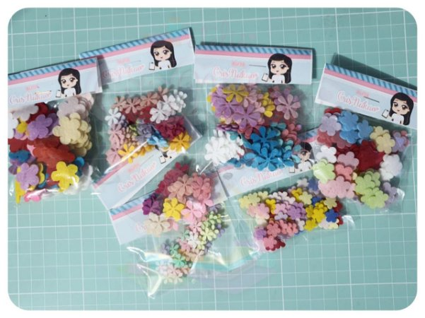 Kit Recortes em Feltro - Florzinhas