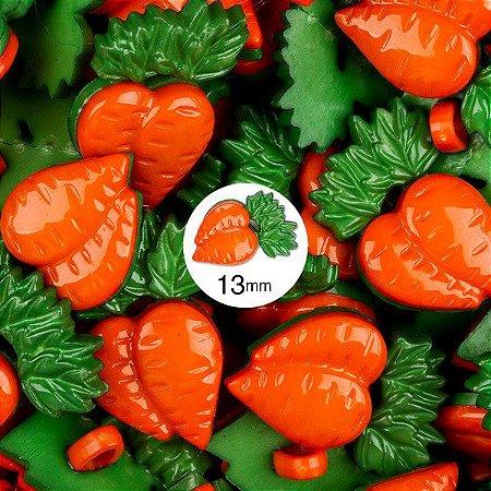 Botão Infantil Com pé Cenoura Dupla - 12 unidades
