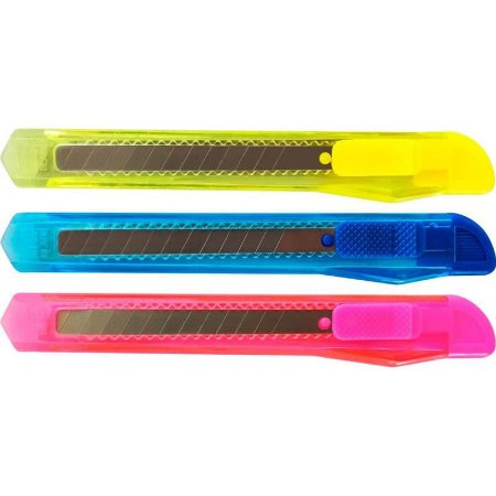 Estilete estreito plástico 9mm - un
