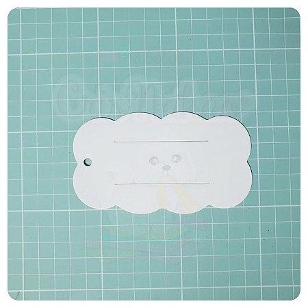Tag nuvem papeleta embalagem para laços bico de pato 11x06 cm - 10 un