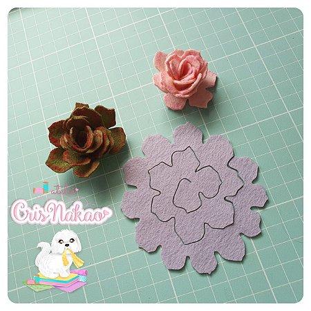 Recortes Em Feltro Espirais para Rosas 4cm - Modelo  6 (Fica Aprox 2,3cm) - 12un