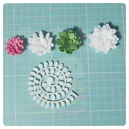 Recortes Em Feltro Espirais para Rosas 7cm - Modelo  7 (Fica Aprox 3,5cm) - 10un