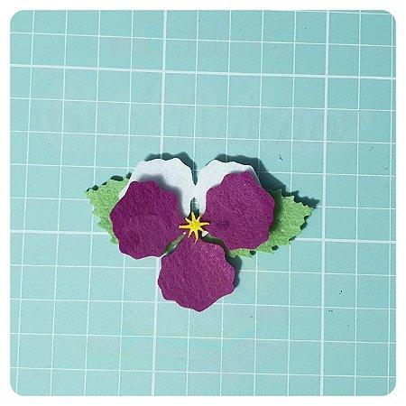 Recortes em Feltro - Orquídea - 6un (24 peças)