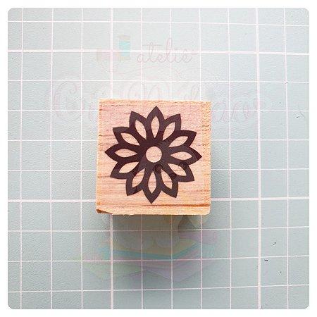 Carimbo Artesanal - Florzinha (2) 3x3cm