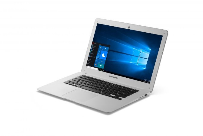 "Notebook Legacy Intel Dual Core Tela HD 14"" Windows 10 RAM 2GB Multilaser Branco - PC102"