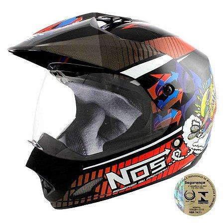 Capacete Para Motocross Top Helmet Vision 60 Th-1 Nos Pro Tork - CAP-284PT