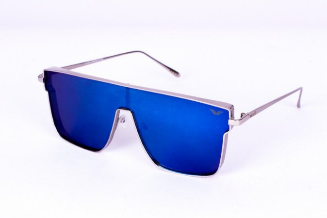 d5983889d31e2 Óculos Metal Unissex Flat Lens Azul - Vincit Sunglasses