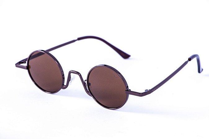 Óculos Metal Unissex - 18601 Marrom
