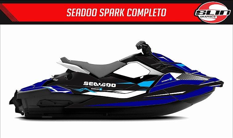 Adesivo Jet Ski Seadoo Spark - Azul Marinho
