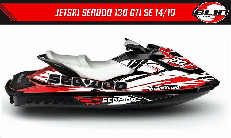 Adesivo Jet Ski GTI 130 SE 14/19  -  Line Racing Red