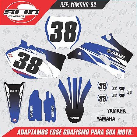 Adesivo Yamaha YZF 250/450 - Azul e Preto