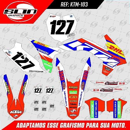 Adesivo Ktm 250/350/450 SX - DHL Racing