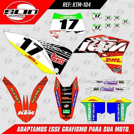 Adesivo Ktm 250/350/450 EXC Team Teka