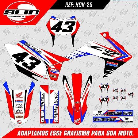 Adesivo Honda Crf 230 15/19 - Racing
