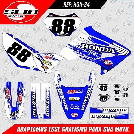 Adesivo Honda Racing Azul