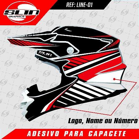 Adesivo Capacete - Line Edition