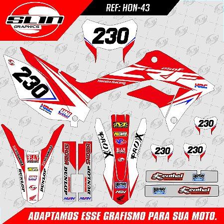 Adesivo Honda Racing HRC - 250F NACIONAL
