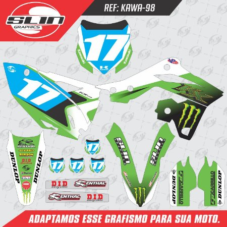 Adesivo Kawasaki Monster Energy - White Edition