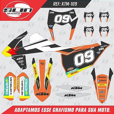 Adesivo Ktm 250/350/450 EXC - Enduro Racing Edição Black